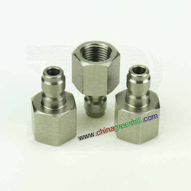 Stainless steel paintball fill nipple adapter