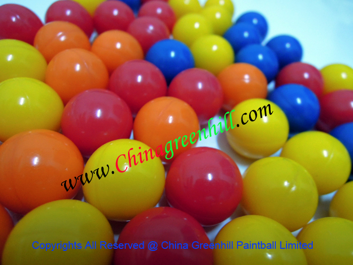 Chinese paintballs factory with 0.68 cal paintballs