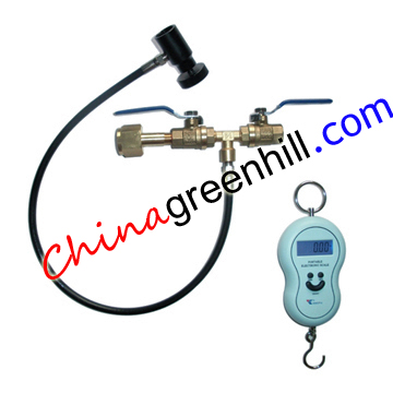 China Deluxe Dual Valve Co2 Fill Station Paintball-Deluxe